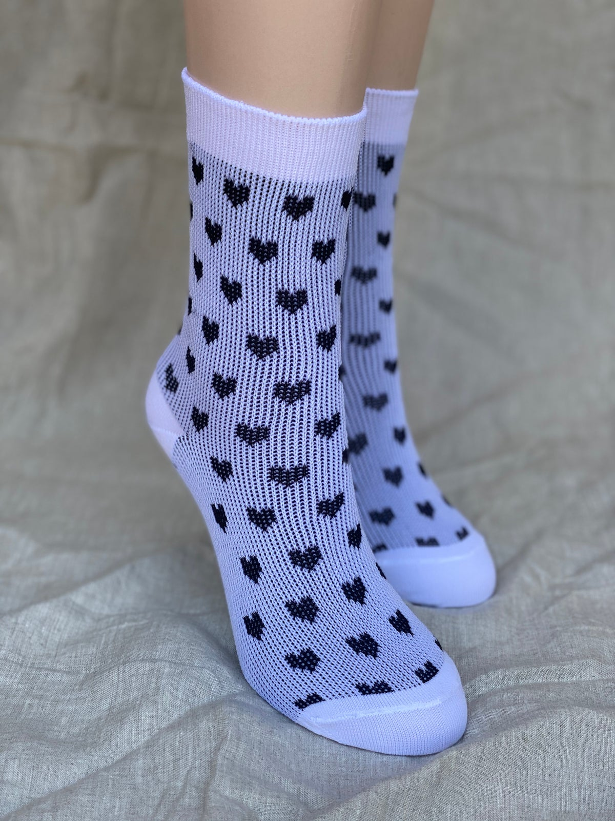 Image of Valentines Socks - Black