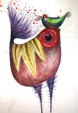 Image of Watercolour bird painting #3