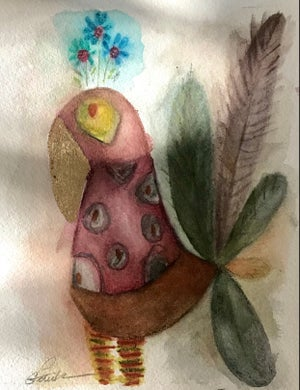 Image of Watercolour Bird painting #7
