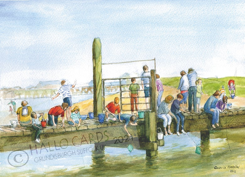 Image of Another Busy Day on the Bridge - Walberswick - Suffolk