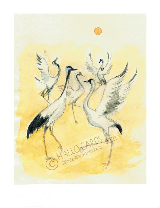 Image of Dancing Cranes - Long Life & Happiness
