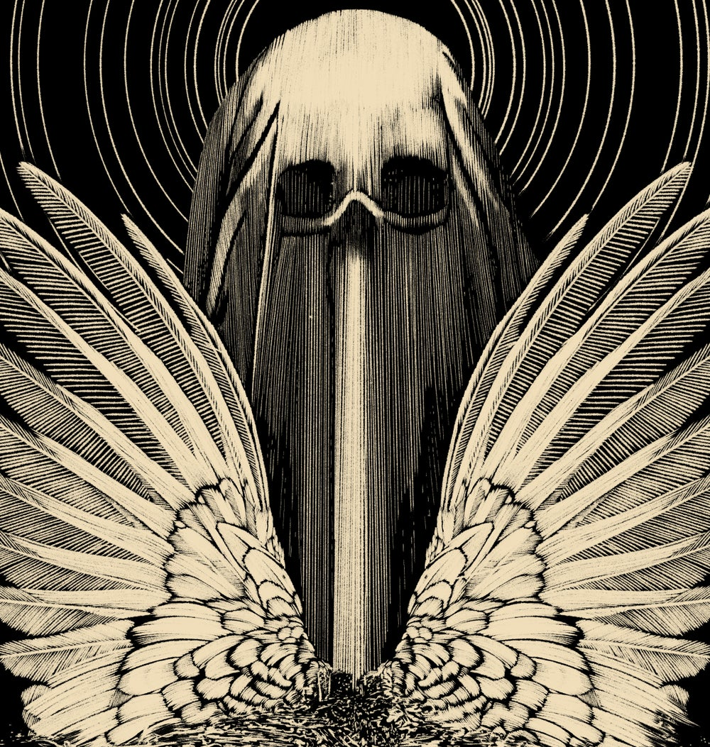 Angel Of Death Oversize Front Print T