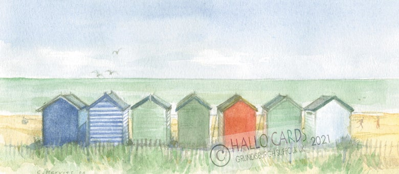 Image of Huts on the Beach - Southwold - Suffolk