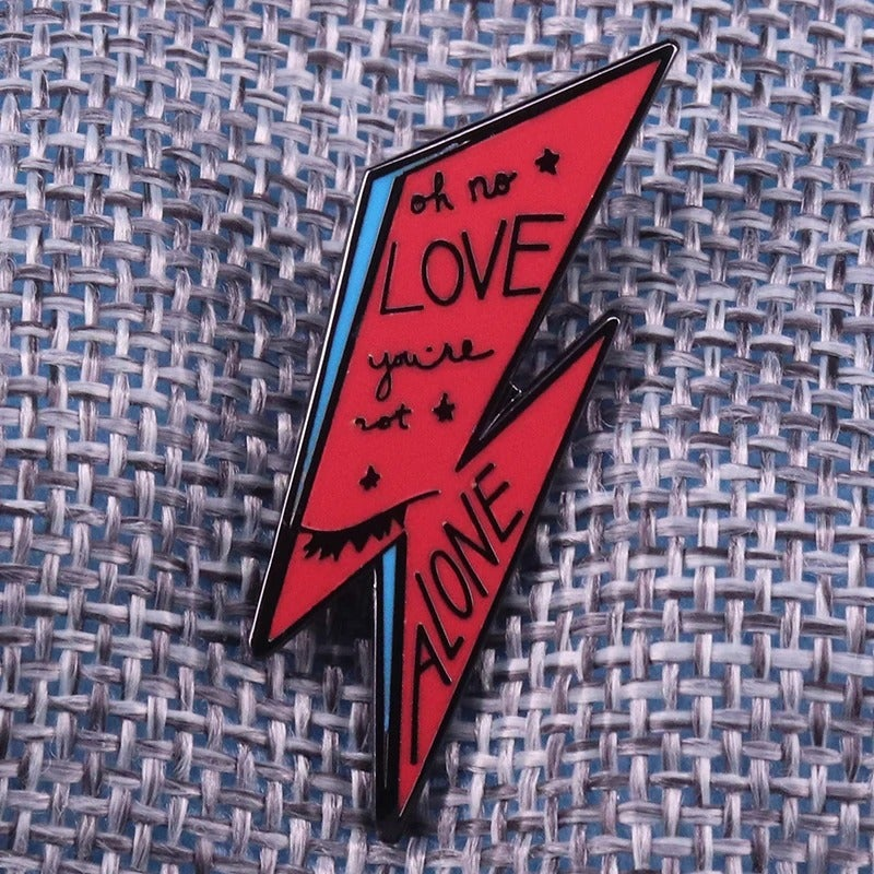 Lightning Bolt Pin Red/Blue