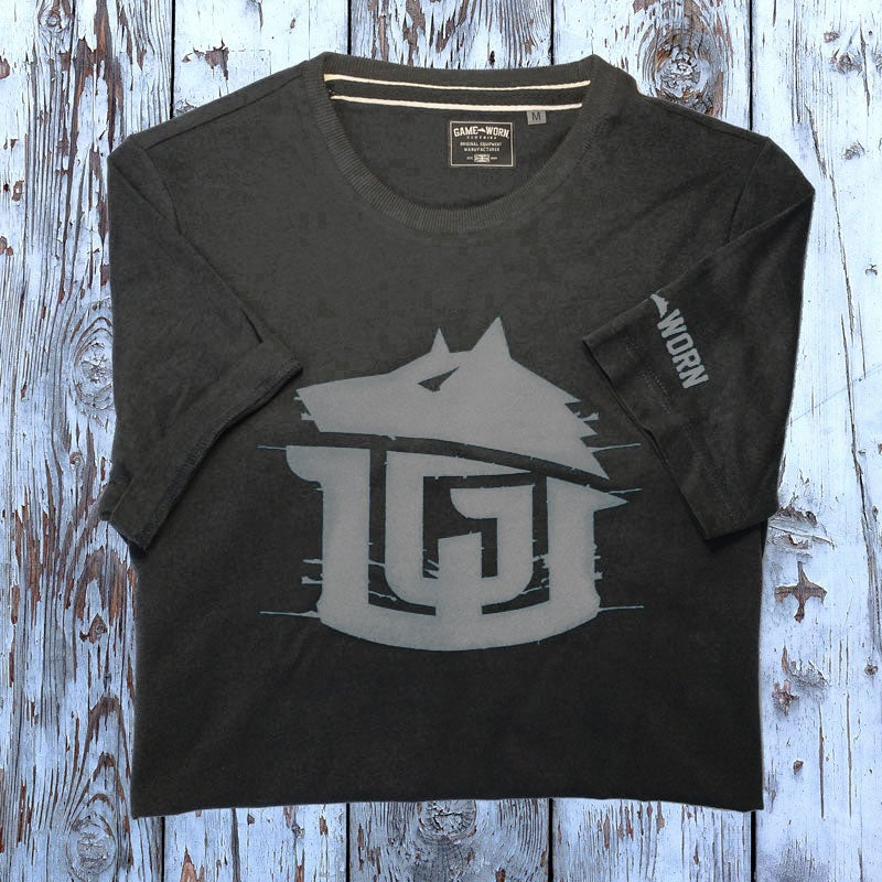 Image of GAME-WORN T-Shirt G-W Print Charcoal Black/Grey