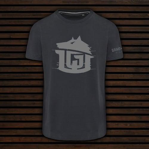 Image of GAME-WORN T-Shirt G-W Print Charcoal Black/Grey