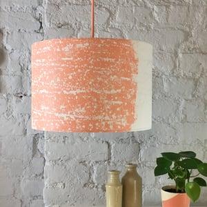 Image of Rain Strip Lampshade Coral   White