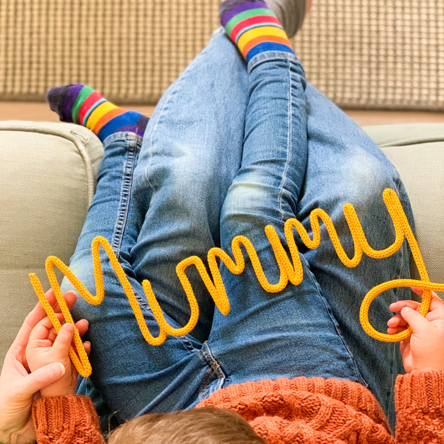 Image of Mummy Knitted Wire Word