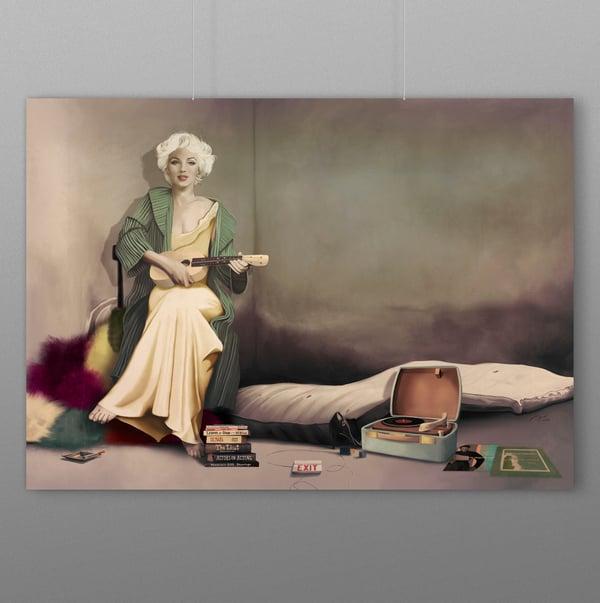 Image of Marilyn, Running Wild Poster