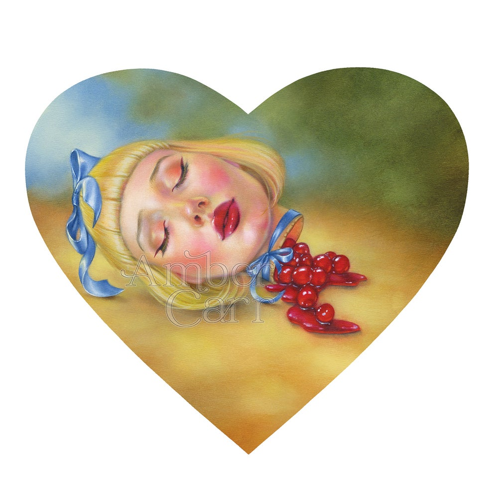 "Image of Cherry Pie Girl 12"" x 12"" print"