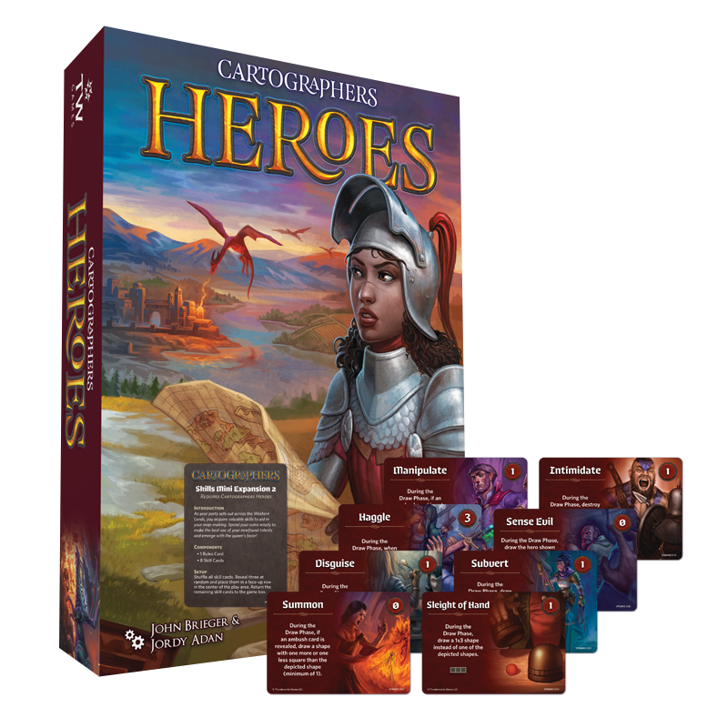 Image of Cartographers Heroes (plus, FREE Skills Mini-Expansion 2) (Pre-Order)