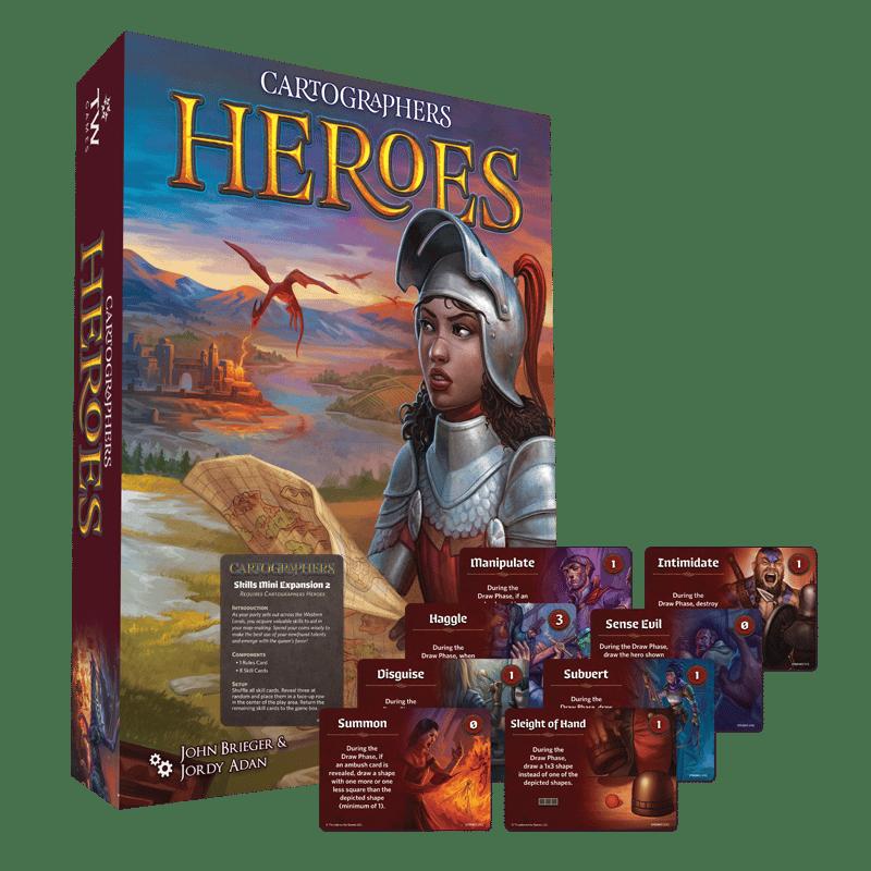 Cartographers Heroes (plus, FREE Skills Mini-Expansion 2) (Pre-Order)