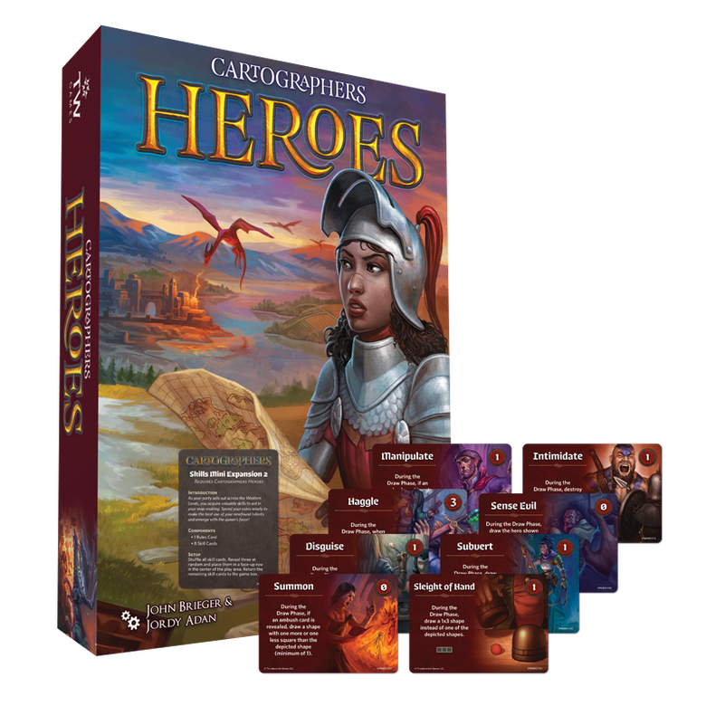 Image of Cartographers Heroes (plus, FREE Skills Mini-Expansion 2) (Pre-Order)