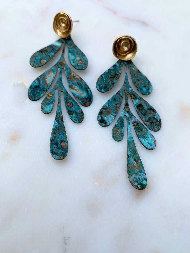 Image of Patina Gold Earrings