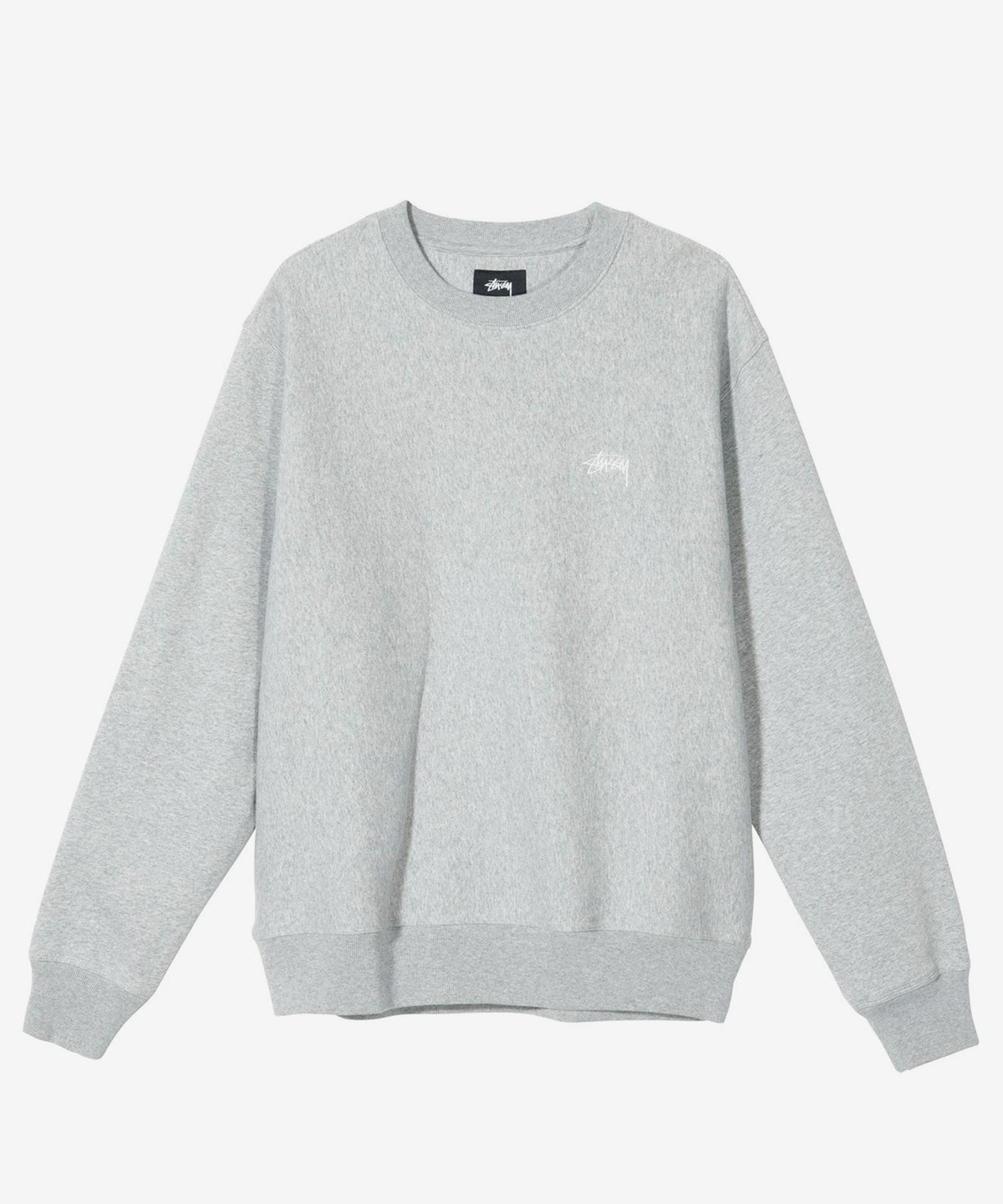Image of STUSSY_STOCK LOGO CREWNECK :::HEATHER GREY:::