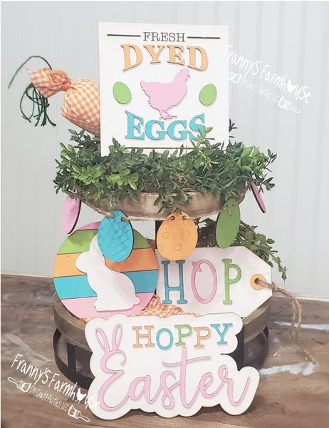 Image of Tiered Tray - Easter Inspired