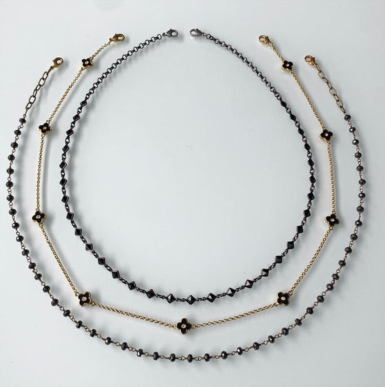 Image of Mask Chains - Black and Gold