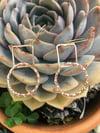 Diamond & Twisted Circle Earrings