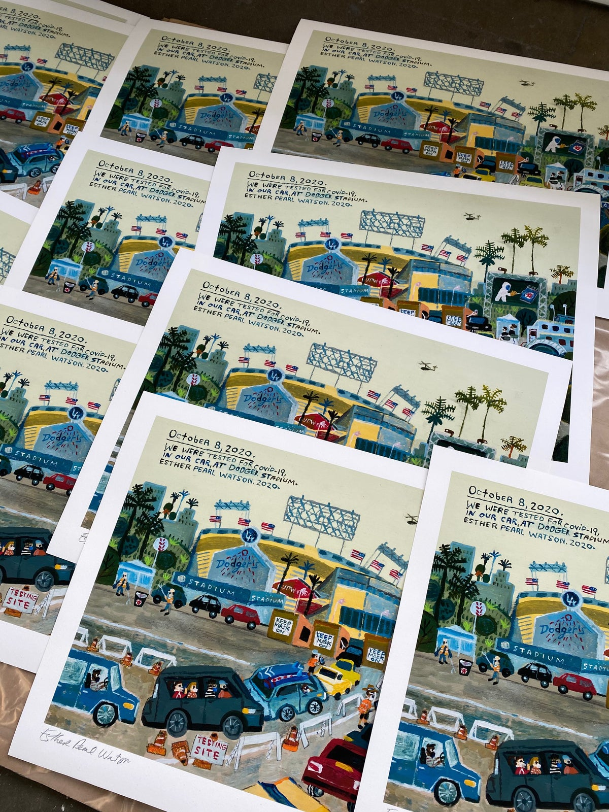 (Esther Pearl Watson) Dodger Stadium Covid print