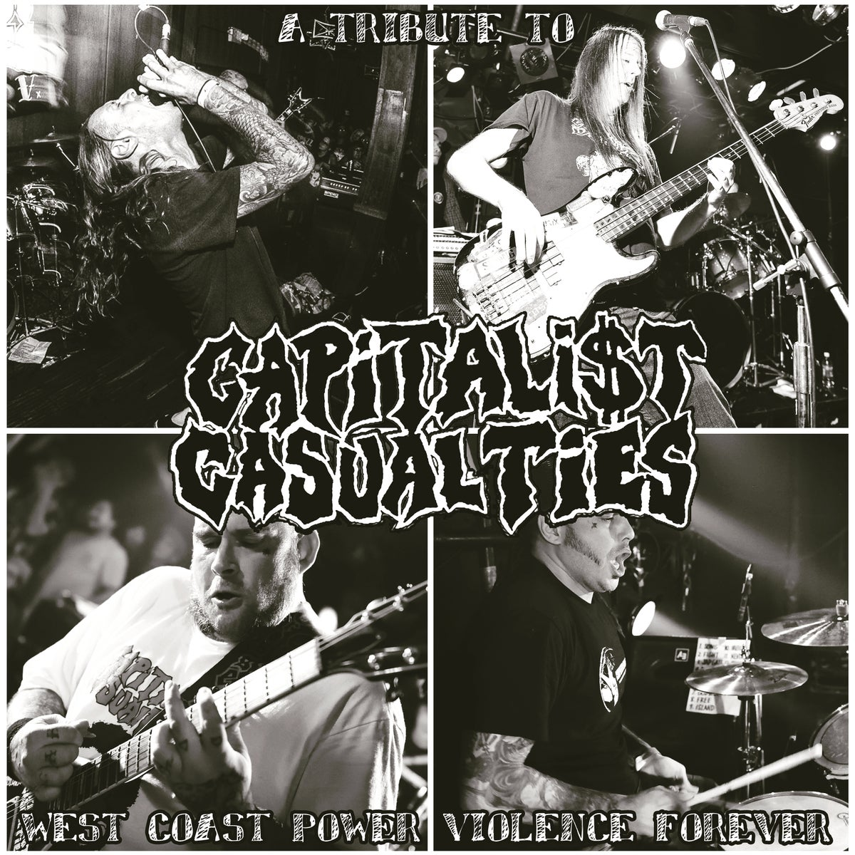 Image of A Tribute To Capitalist Casualties: West Coast Power Violence Forever LP ( /300 Opaque Violet)