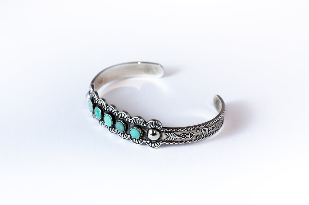Image of Vintage Native American Turquoise Bracelet