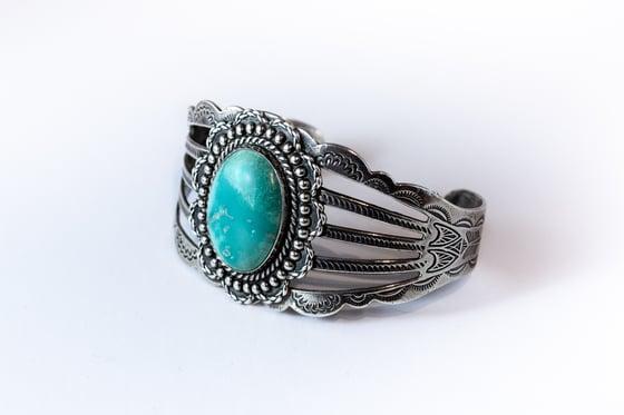 Image of Large Vintage Native American Turquoise bracelet