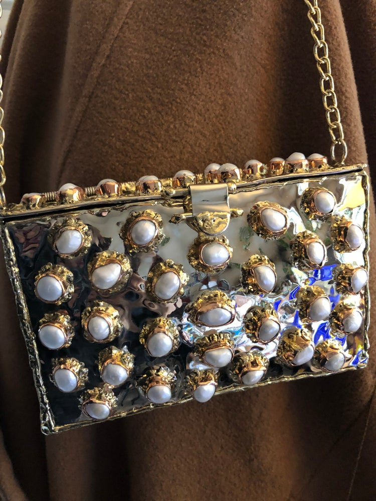 Image of Pearl and Brass Clutch