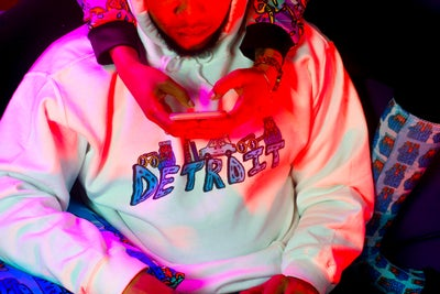 Image of Detroit Hoody in White