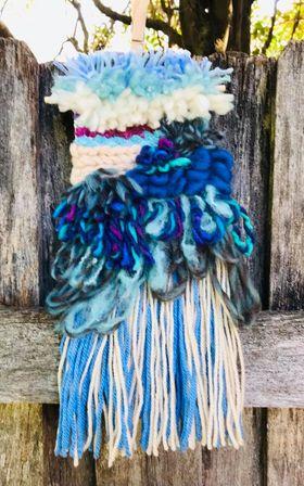 Image of Latch Hook Weaving Kit in Blues