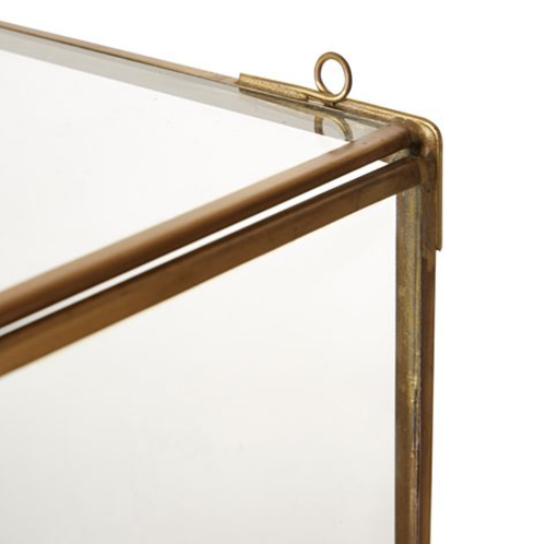 Image of Brass and Glass Lantern Sconce