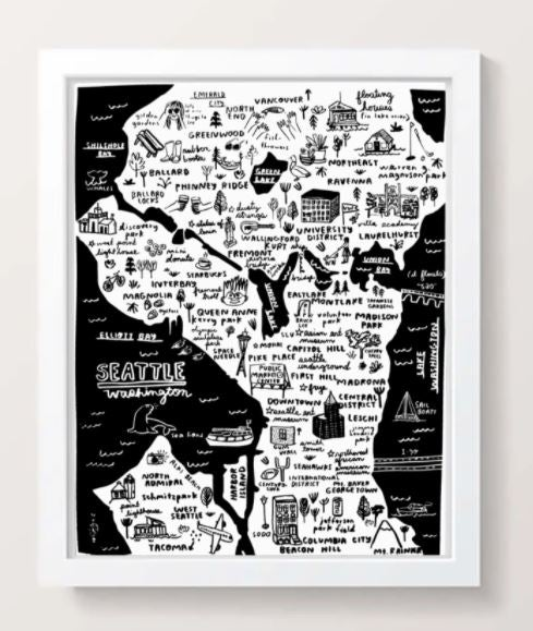 Image of PIL-Seattle Map Print