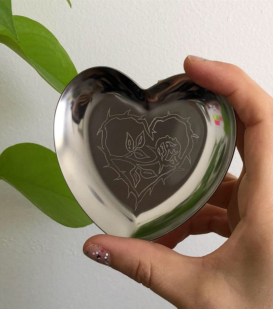 Image of HAND ENGRAVED HEART  TRINKET DISH FROM $25