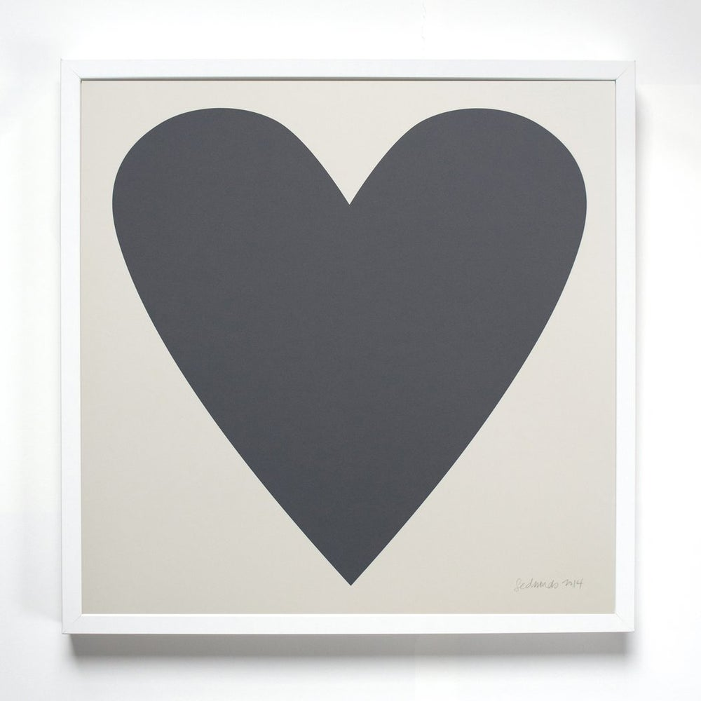Image of Banquet Grey Heart Print