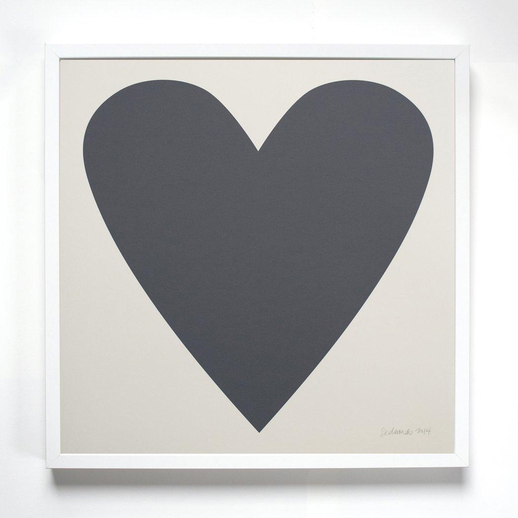 Image of Banquet Grey Heart Print