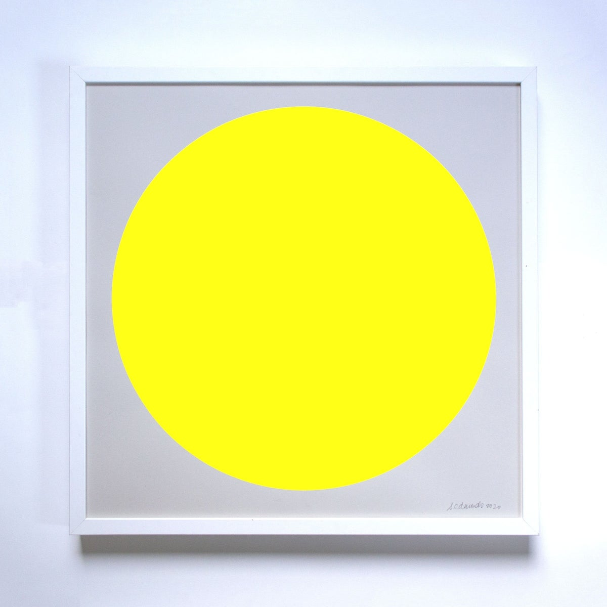 Image of Banquet Neon Yellow Sun Print