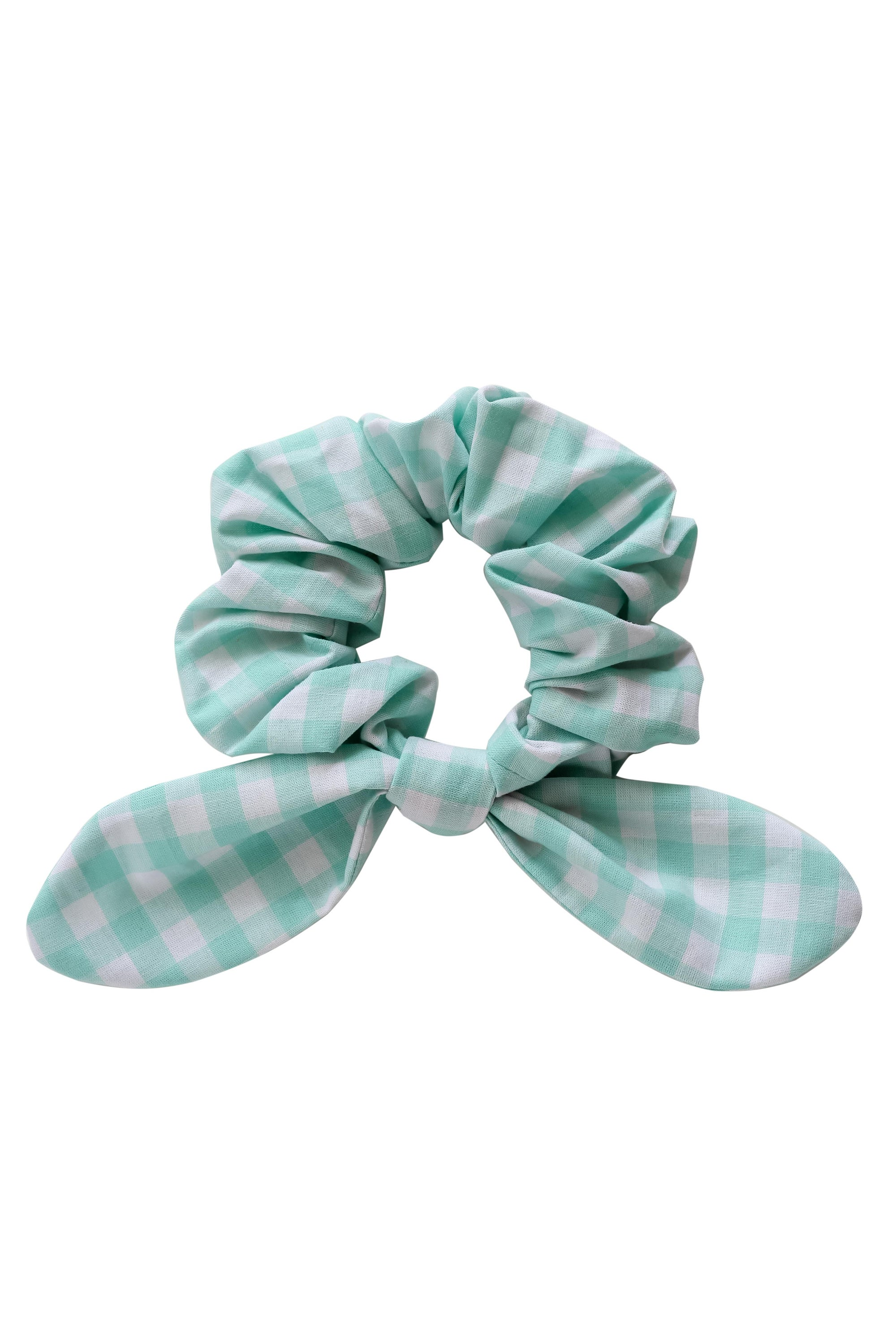 Image of Bow scrunchie * Vichy check * Mint