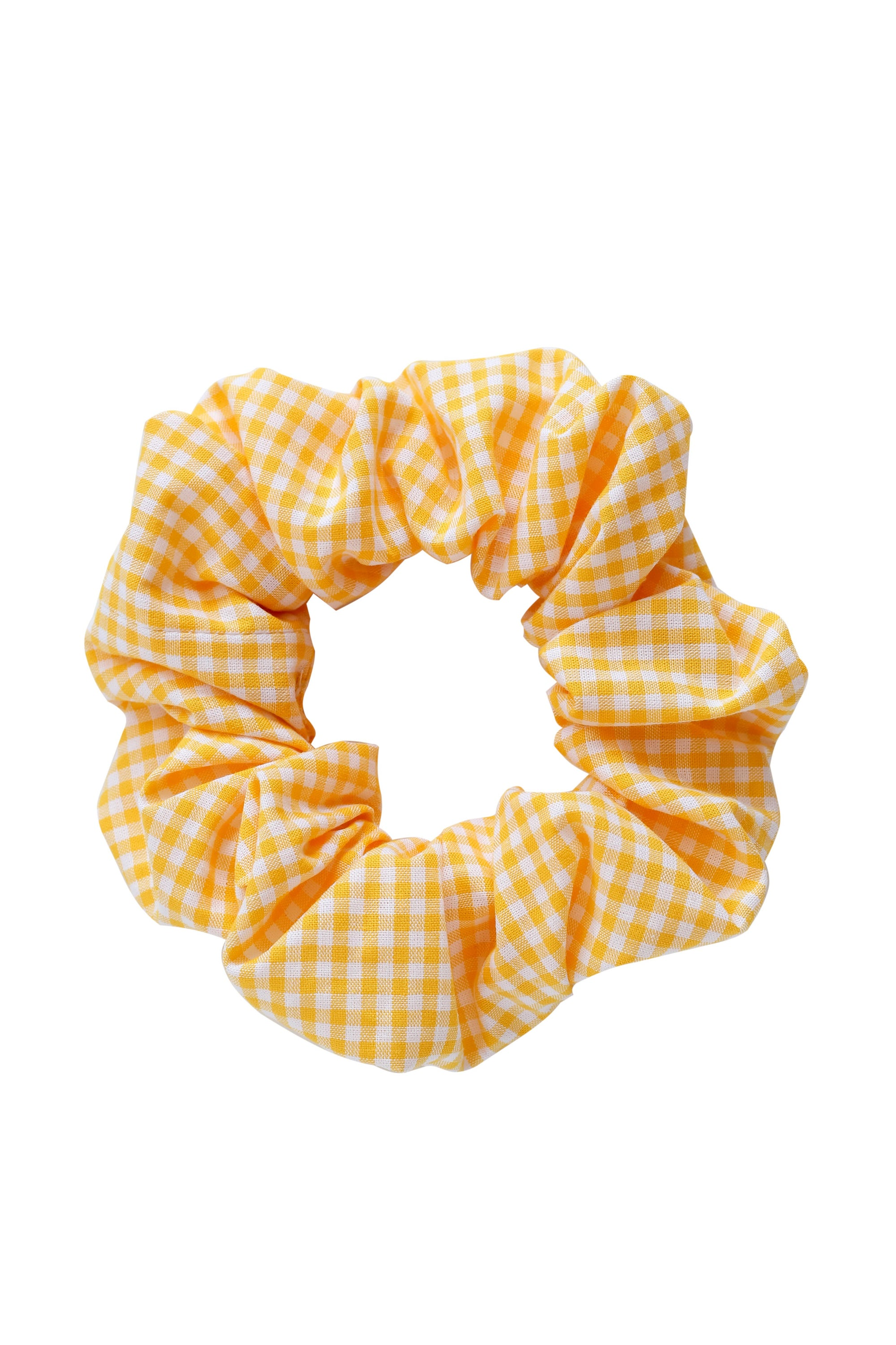 Image of Scrunchie * Vichy check * Sunny yellow