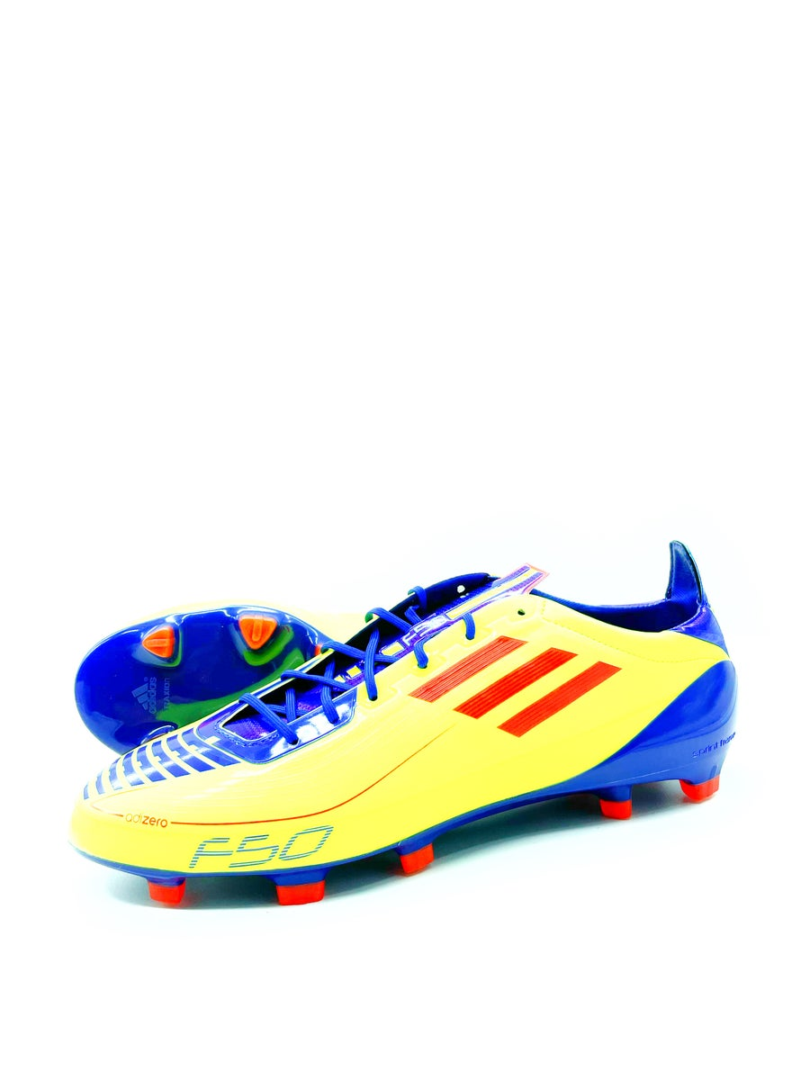 Image of Adidas F50 adizero FG yellow purple