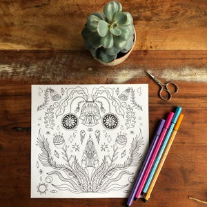 ✿ coloring picture flower ✿
