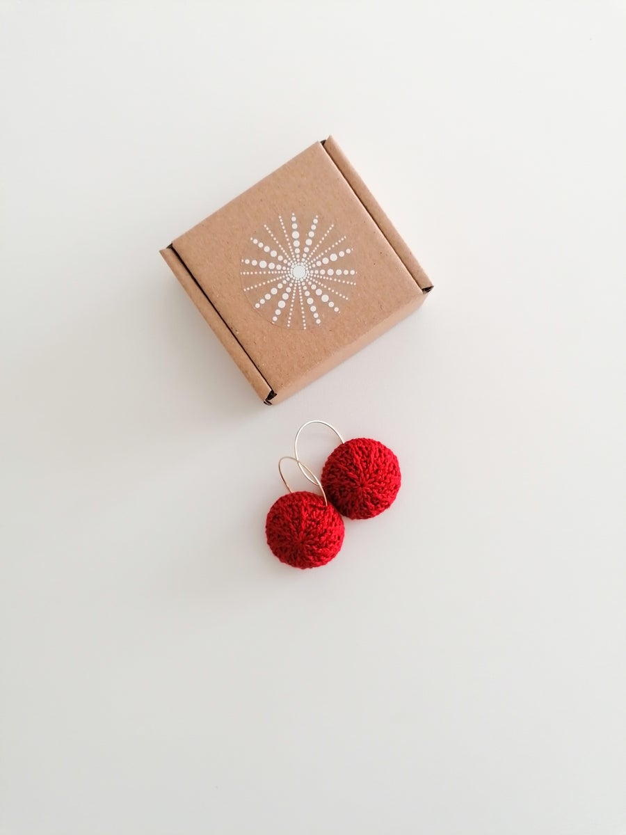 Image of Red Sea Urchin Earrings