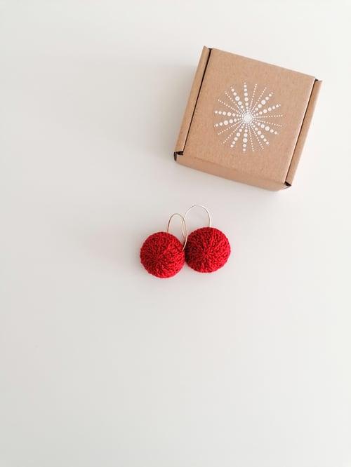 Image of Red Sea Urchin Earrings