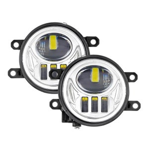 Image of Auxbeam Fog Lamp Replacement for 3RD Gen Tacoma 2016-2019 (Chrome / Black Out)