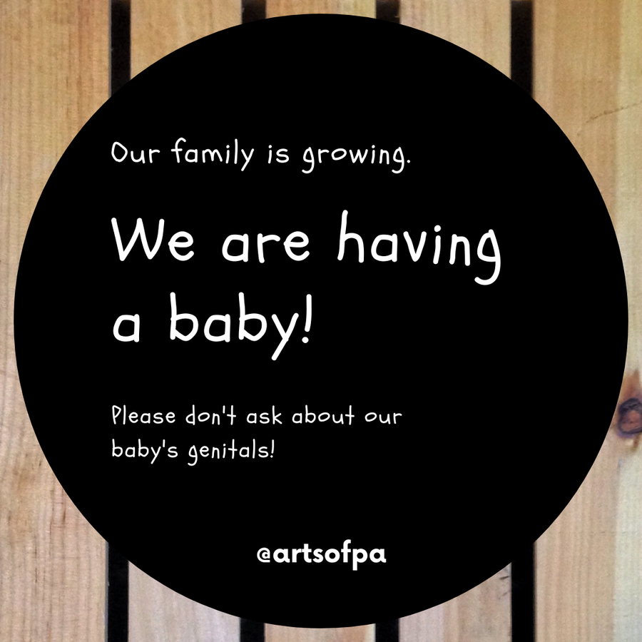 Image of Baby Announcement Stickers