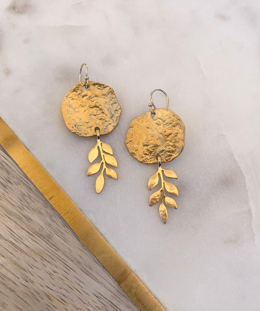 Image of Matte Leaf Earrings