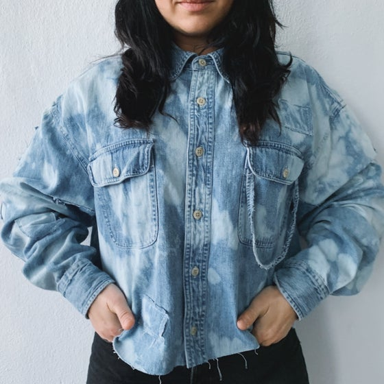 Image of Camisas denim crop
