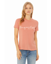 BELLA+CANVAS  Women's Relaxed Fit Short Sleeve Tee- Heather Sunset