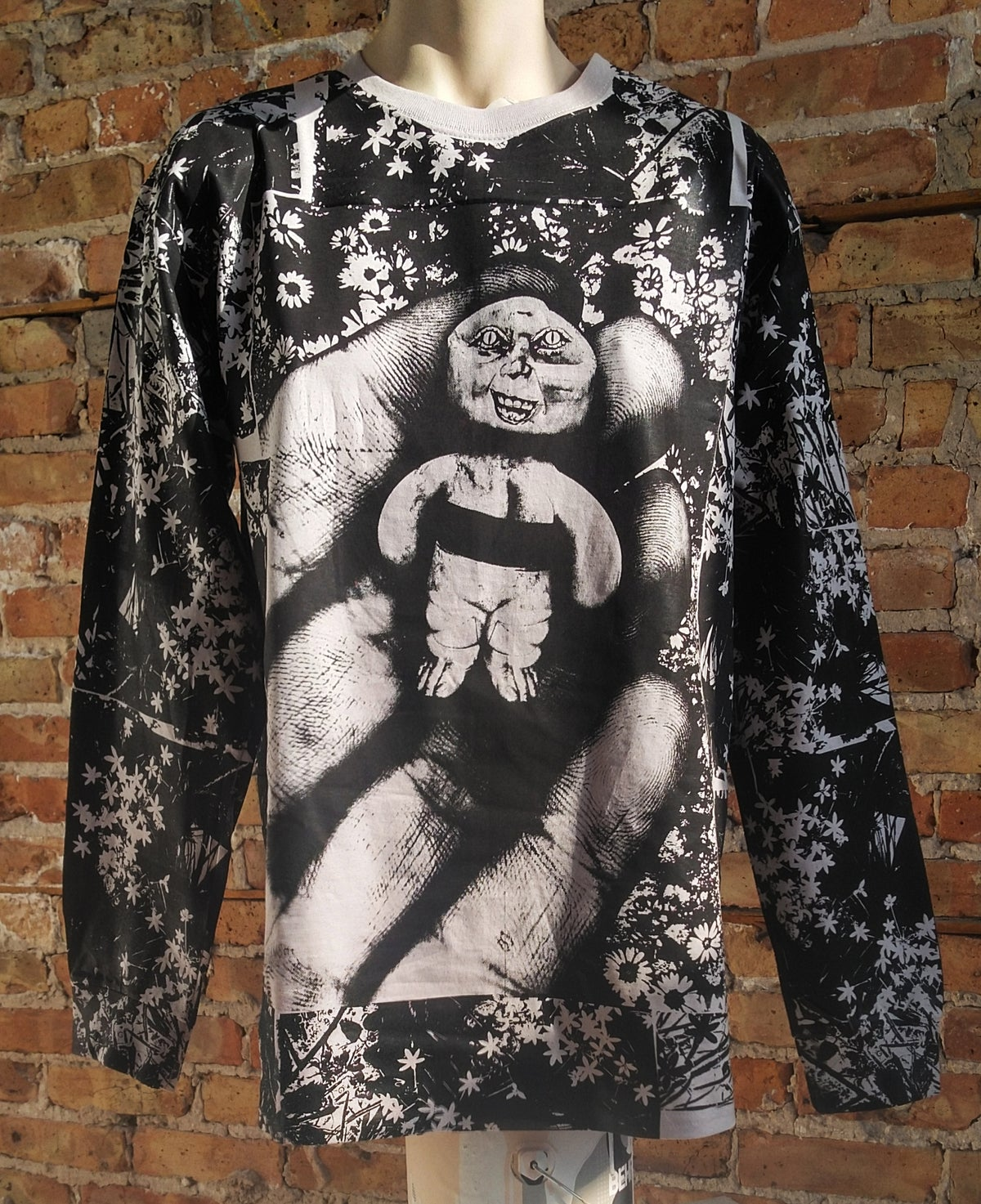 Image of Handheld Abomination Black Floral Longsleeve [All Sizes]