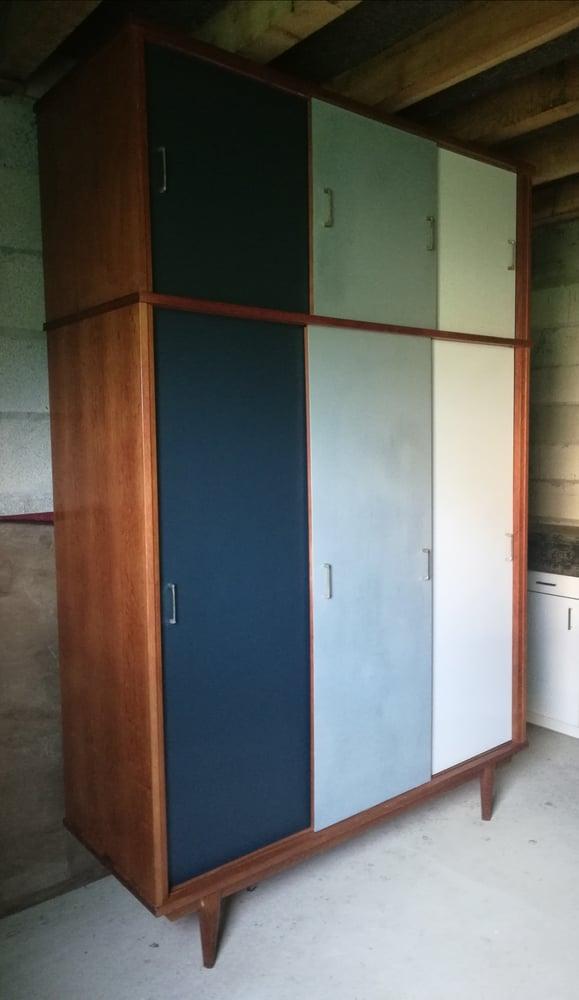 Image of Grande armoire à double niveaux de rangement