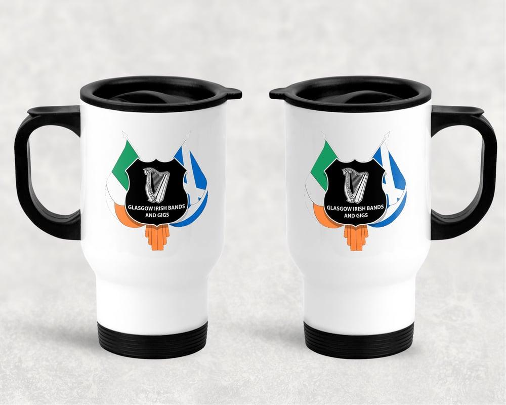 Glasgow Irish Bands & Gigs Travel Mug