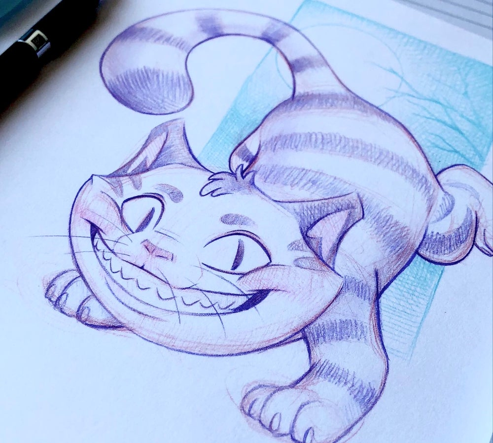 Cheshire Cat (original drawing)